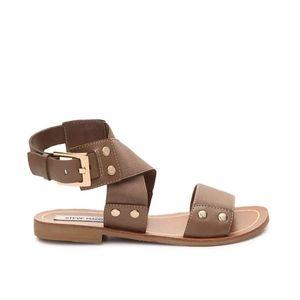 STEVE MADDEN Cidnie Taupe Gladiator Sandals Size 9
